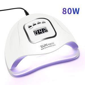 LED Nail Lamp for Manicure 80/54W Nail Dryer Machine UV Lamp