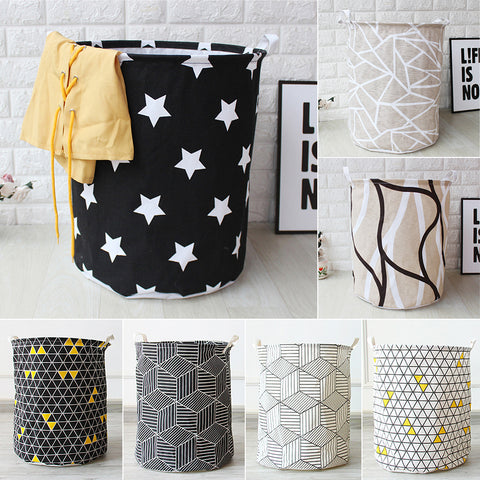 1 Pc Cloth Storage Basket Folding Geometry Laundry Basket