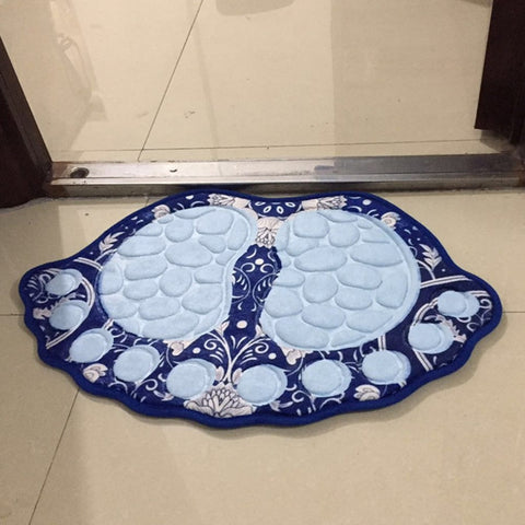 Image of Big Feet Bath Toilet Mat Bathroom Rugs Carpet Doormat Absorbent Mats Foot Pad Rug