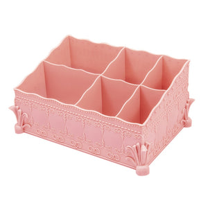 Makeup Organizer Desktop Make Up Brush Storage Box Cosmetic Organizer Skin Care Jewelry Box Container for Home Office Storage