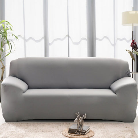 Image of Modern Pure Color Fashion Sofa Covers Stretch Slipcovers