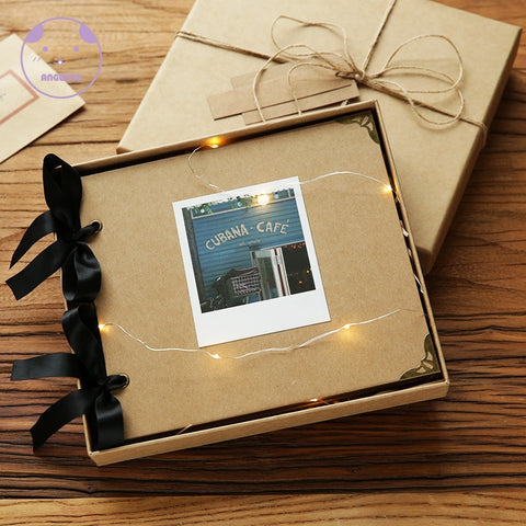 Image of Loose-leaf Wedding Photo Album DIY Photo Frame Cover Self Adhesive Scrapbook Album