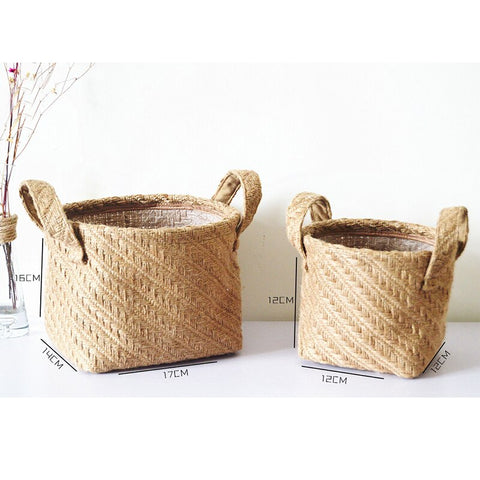 Multifunctional Flowerpot Storage Basket Desktop Storage Basket
