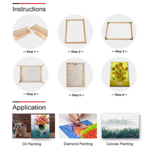 DIY Nature Pine Solid Wooden Frame With Accessories Sturdy Inner Picture Photo Frames
