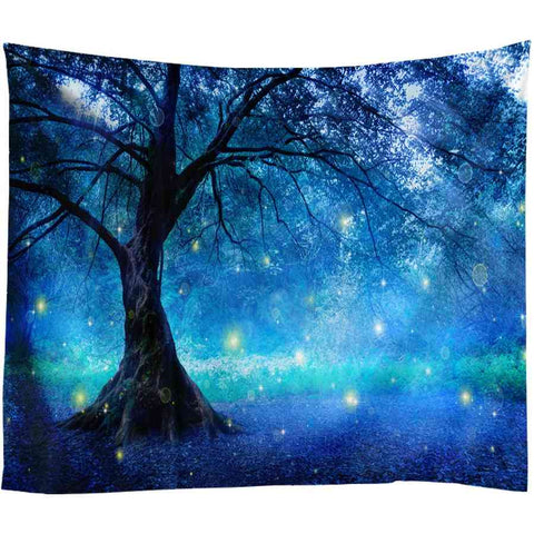 Image of Forest Printed Large Wall Tapestry Bohemian Wall Art Decor