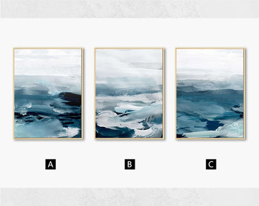 Abstract Ocean Landscape Wall Art Canvas Painting