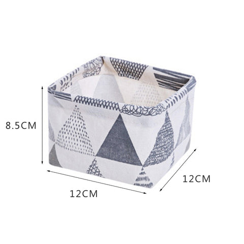 Image of Desktop Storage Basket Cosmetic Book Organizer
