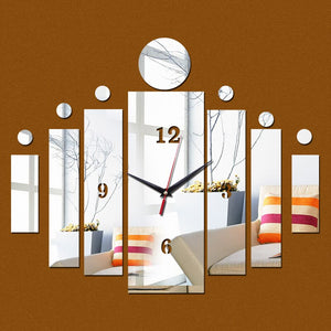 3d mirror wall art acrylic clock modern design watch home decoration diy crystal vintage clocks kids decal