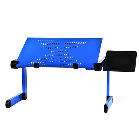 Image of Al Alloy Laptop Table Adjustable Portable Folding Computer Desk  Stand Tray