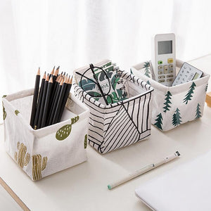 Foldable Sundries Storage basket Cute Printing Cosmetics Container