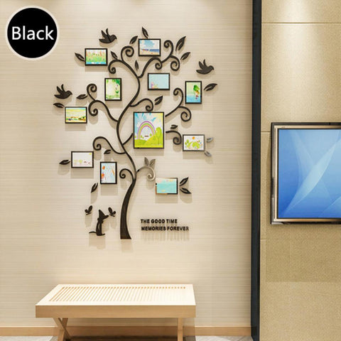 Image of 3D DIY Assembly Family Photo Frame Tree Home Decor Poster Picture Frames