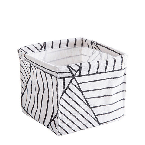 Image of Foldable Sundries Storage basket Cute Printing Cosmetics Container