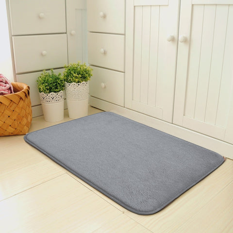 Image of Rugs Gray Memory Foam Kitchen Absorbent Antiskid Mat