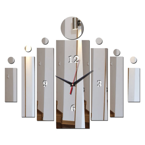 Image of Mirror Wall Art Acrylic Clock Modern Design Home Decoration