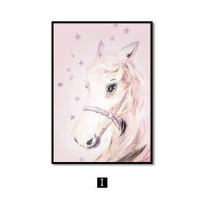 Wall Art Canvas Painting Horse Swan Nordic Wall Pictures