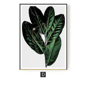 Nordic Decoration Green Plants Poster Wall Art