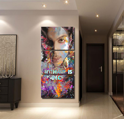 Image of Canvas Printed Painting Pictures Artwork 3 Pieces Prince Wall Art Home Decorative