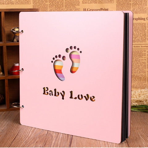 Wood Cover Albums Handmade Loose-leaf Pasted Photo Album Personalized DIY