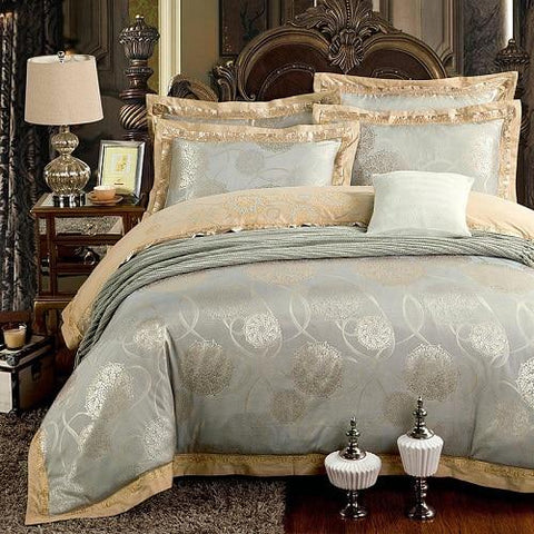 Luxury Silk Satin Duvet Cover Bedding Set Embroidery Bed Set Bed Sheet set