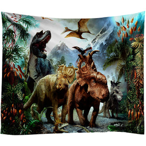 Dinosaur Tapestry Wall Hanging Light-weight Wall Art