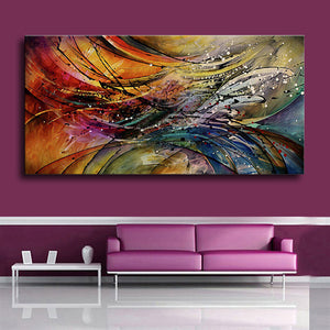 Hand Painted Modern Abstract Oil Paintings Home Wall Art Canvas Set Geometric