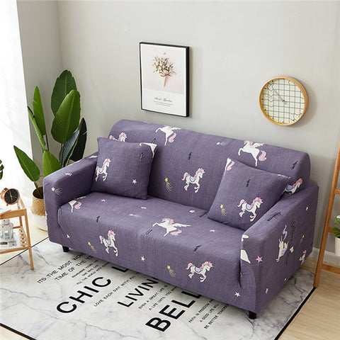 1 Pc Modern Sofa Cover Elastic Floral Slipcover for Living Room Furniture Protector