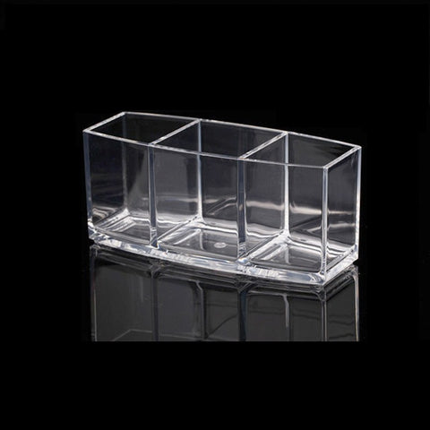 Image of Makeup Organizer Cosmetic Holder Makeup Tools Storage Box (Clear)