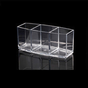 Makeup Organizer Cosmetic Holder Makeup Tools Storage Box (Clear)