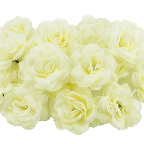 Image of Rose Artificial Silk Rose Flowers Wall Heads For Home Wedding Decoration DIY