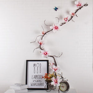 185 cm Orchid Flowers Wall Tree Branches Wreath Garland Artificial Magnolia Flowers Vine