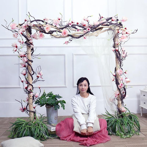Image of Magnolia Decorations Flowers Wall Ivy Vine Wreath Artificial Flowers Wall Flowers Garlands