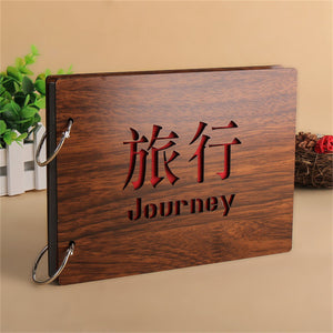 Wood Covering Handmade Albums Loose-leaf Pasted Baby Lovers DIY Photo Album Memorial