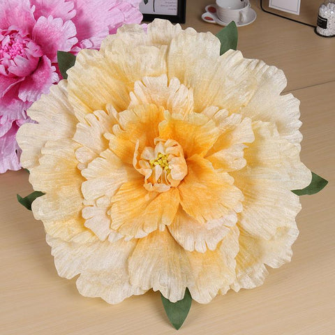 Image of Large Artificial Flowers Peony Wedding background Decoration Flower Silk Flowers Wall
