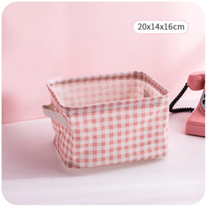 Foldable Storage Basket Toy Container Fabric Home Desktop Storage Basket