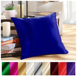 Pure Silk Pillowcase Zipper Pillowcase Cover Silk Cushion