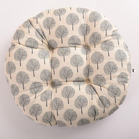 Image of Seat Cushion Cotton Core Cotton Polyester Tatami Cushion Pillow Home Decoration