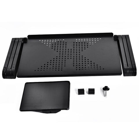 Al Alloy Laptop Table Adjustable Portable Folding Computer With Big Cooling Fan