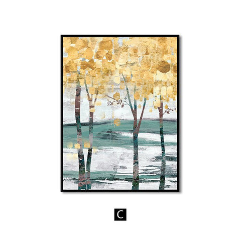 Image of Landscape Wall Art Canvas Abstract Painting Wall Pictures
