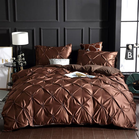 Luxury Silk Bedding Set Queen Comforter Bedding Set King Duvet Cover Set