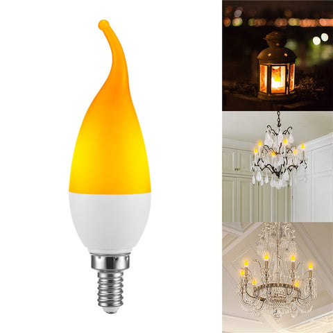 Image of LED Fire Light E27 Candle Lamp 5W 4 Modes Lighting LED Flame Flickering Bulb