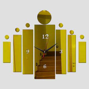 Mirror Wall Art Acrylic Clock Modern Design Home Decoration