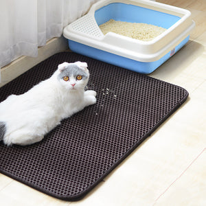 Cat Litter Mat EVA Double-Layer Pet Cat Litter Trapper Mats