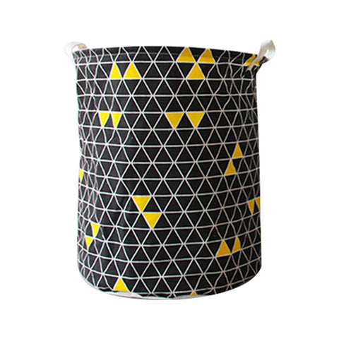 Image of 1 Pc Cloth Storage Basket Folding Geometry Laundry Basket