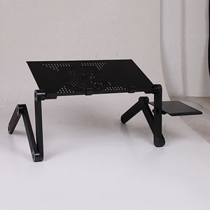 Al Alloy Laptop Table Adjustable Portable Folding Computer Desk  Stand Tray