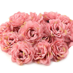 Rose Artificial Silk Rose Flowers Wall Heads For Home Wedding Decoration DIY