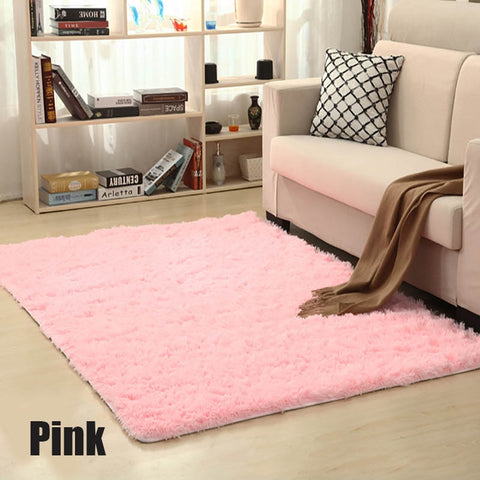 Image of Soft Carpet Plush Floor Rugs Fluffy Mats Faux Fur Living Room Mat