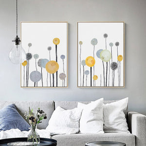 Wall Art Modern Abstract Flowers Home Decoration Canvas Painting