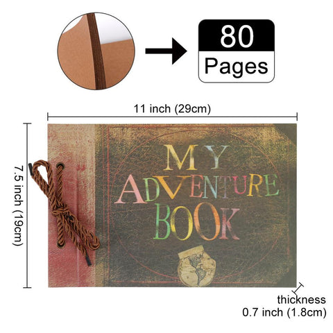 DIY Handmade Our Adventure Book Scrapbook Photo Album Anniversary Wedding Gifts