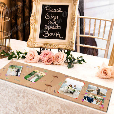Image of DIY Handmade Our Adventure Book Scrapbook Photo Album Anniversary Wedding Gifts