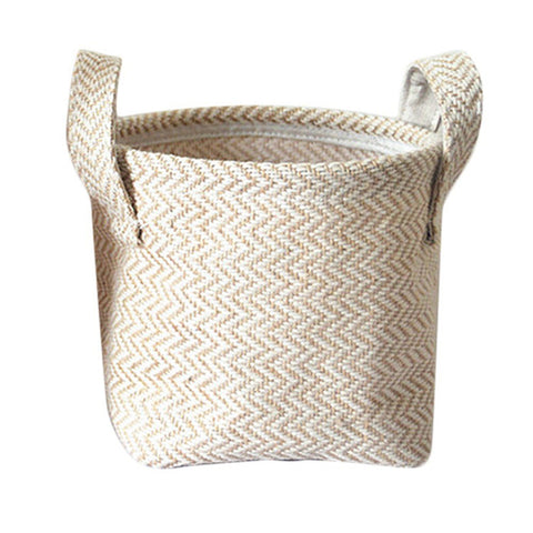 Image of Multifunctional Flowerpot Storage Basket Desktop Storage Basket